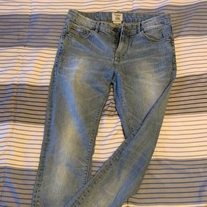 Mens Pull & Bear Skinny Jeans, Faded Blue Denim.